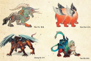 In Chinese mythology and astronomy, the Four Evil Creatures, or Four Perils/Four Fiends (四凶; Sì Xiōng) are a group of four creatures that have been exiled by the gods and are the antagonistic counterparts of the Four Celestial Animals: Azure Dragon, Vermillion Bird, Black Tortoise, and the White Tiger.