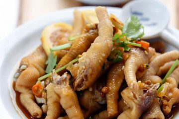 Super delicious sweet, sour and spicy chicken feet salad, a new Chinese star snack. This has been popular in China for a while, especially in this summer among the World Cup. We eat lots of this chicken feet salad when watching the games.  I understand that most of you do…