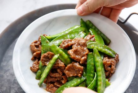 Beef with Snow Pea Stir Fry