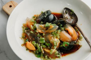 Chinese Century egg is also named as preserved egg, hundred-year egg, thousand-year egg which is commonly made from preserved duck eggs. This is a dish I have struggled about whether introduce it or not because my husband hates the century eggs. But the fact is that he is quite sticky…