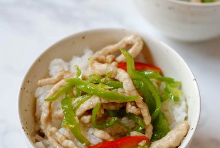 Shredded Pork Stir Fried with Fresh Peppers