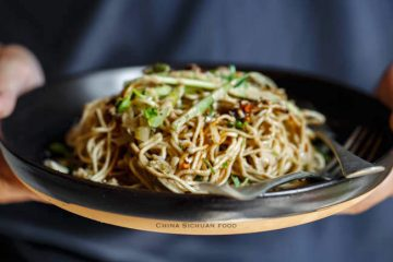 Fiery cold sesame noodle is a great main dish in summer.  In China, noodles are served as breakfast or sometimes along with a meal with congee. The most famous and popular cold noodle in China is Sichuan style mala noodles. In that version,  only a small amount of sesame paste…
