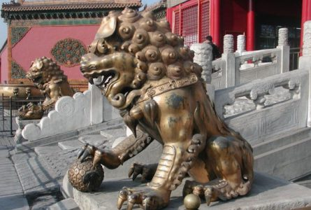 Fu Dogs the Chinese guardian lions