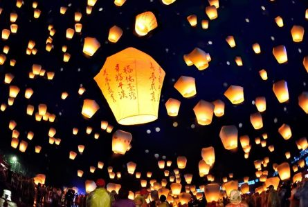 Village where wishes light up the night sky