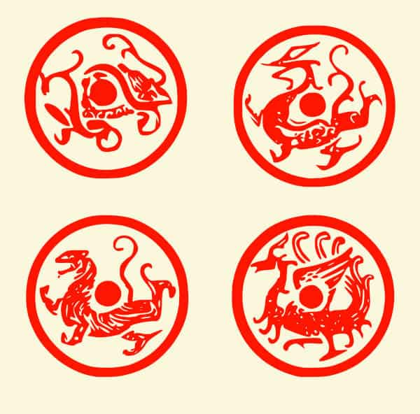 What are the Four Sacred Animals of Chinese Mythology