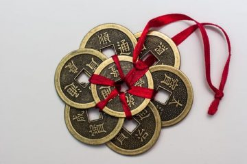 The Chinese lucky coins are considered to be a symbol of wealth and fortune, and when placed in our home and workplace according to the Feng Shui principles, it is believed that the owner will enjoy prosperity.