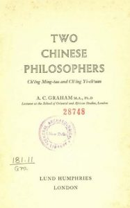Two Chinese philosophers by A.C. Graham - 1958