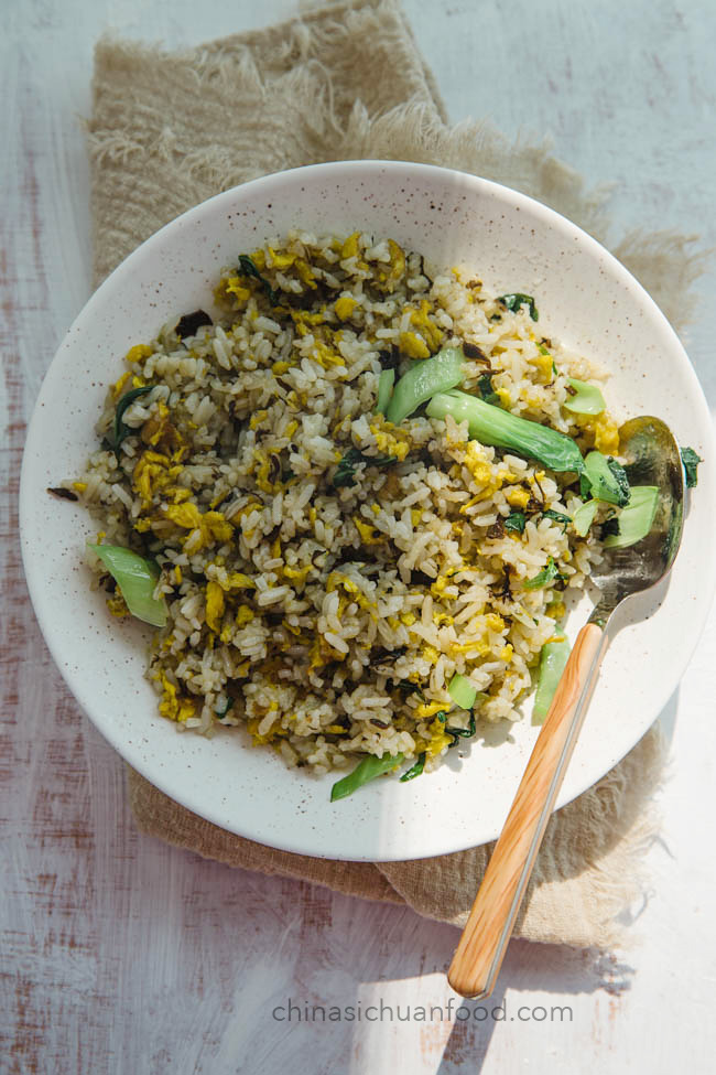 Olive vegetable fired rice|chinasichuanfood.com
