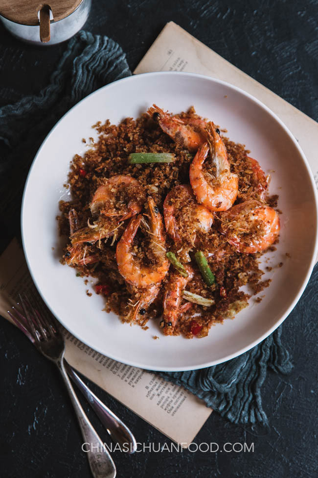 Shrimp fried with breadcrumbs|chinasichuanfood.com